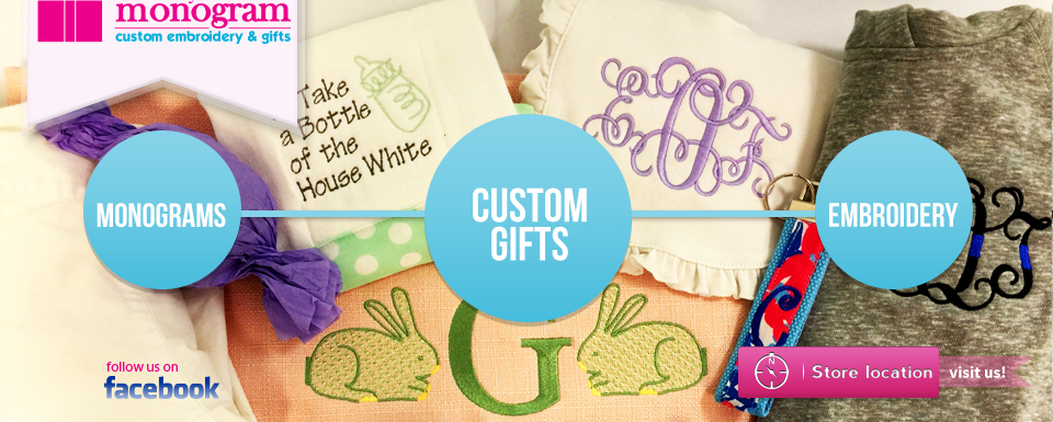 Sew my monogram custom embroidery vinyl midlothian va custom gifts embroidery and mongrams negle Images